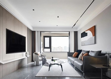 龙湖天宸原著110平现代风格实景样板间视频