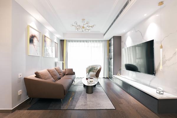 现代轻奢-四室两厅-125平-装修实景效果图