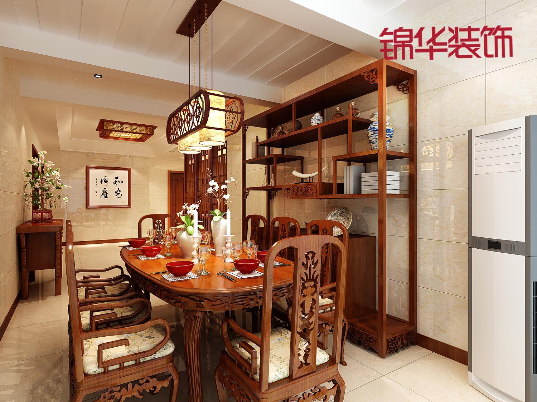 华府天地-中式装修-两室一厅装修效果图-新中式风格图片