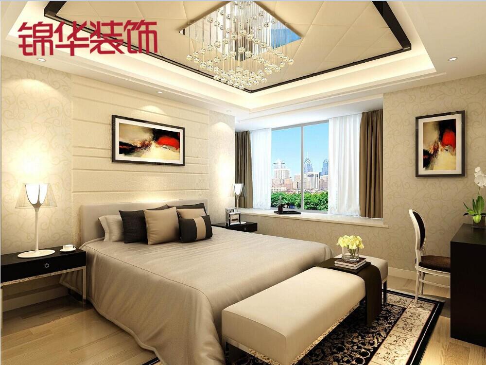 奥体国际-现代装修-三室一厅装修效果图-现代简约