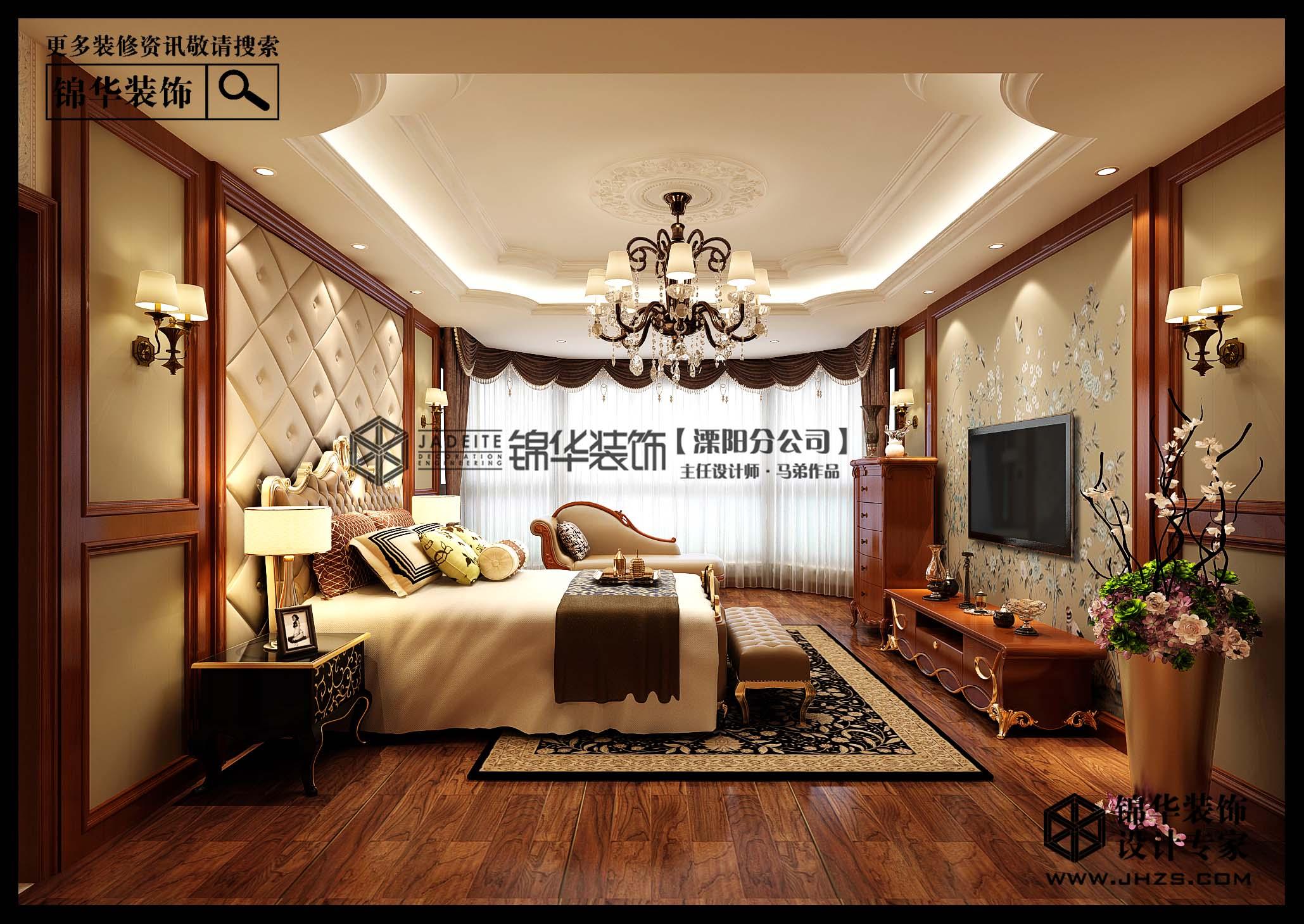 奥体国际顶楼复式美式风格效果图