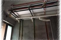 顶排水管独立吊装