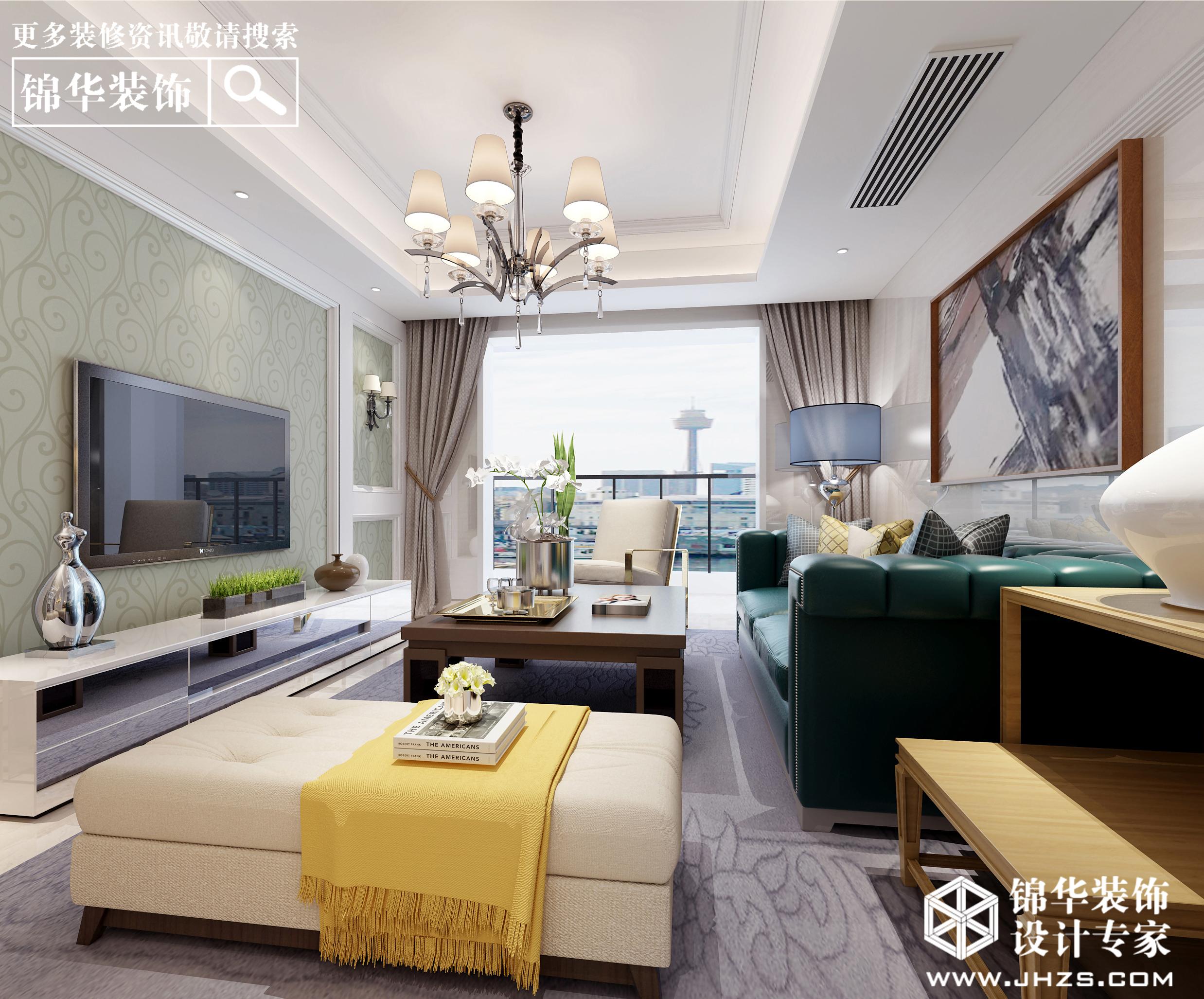 溧阳金峰新城114平现代风效果图