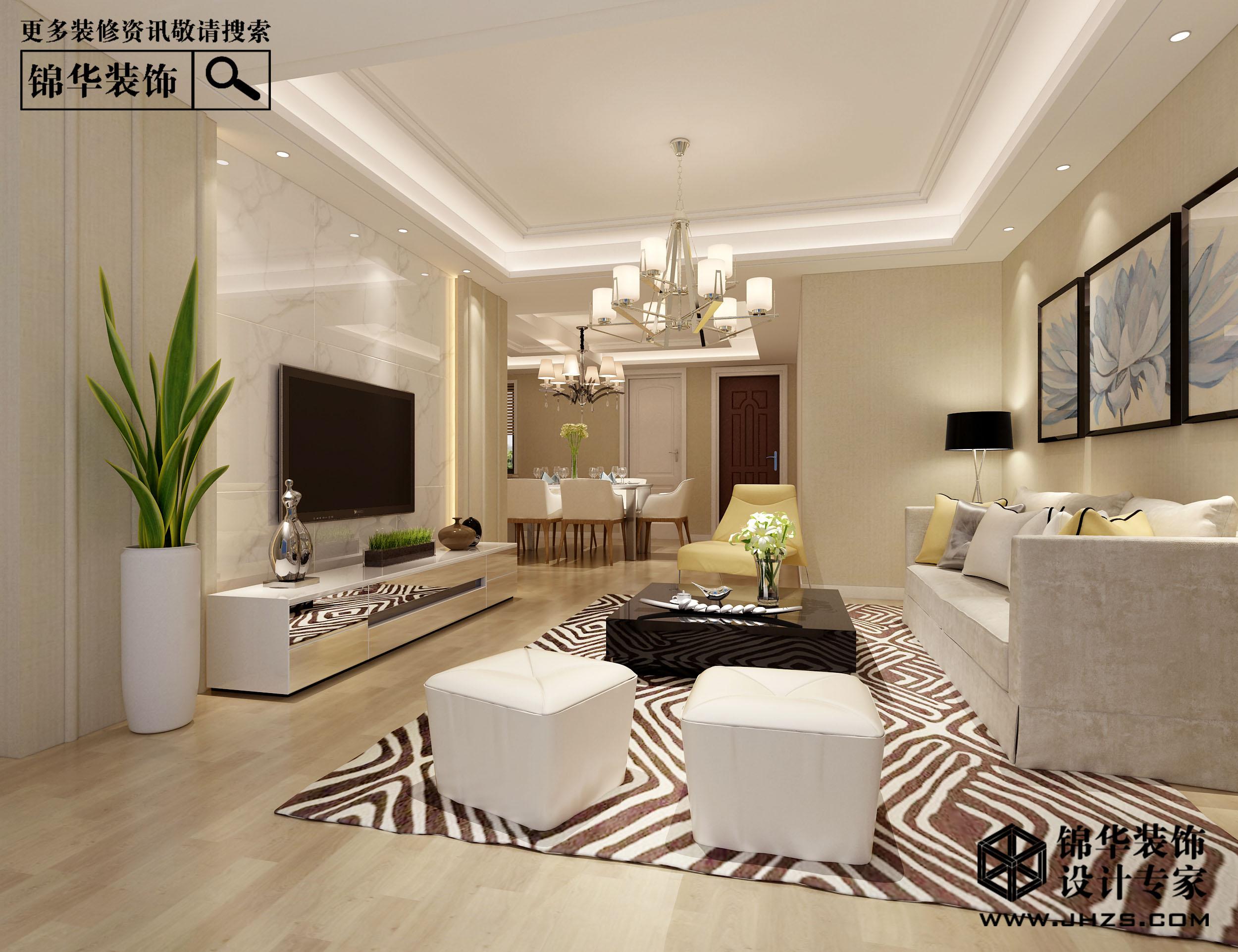 溧阳金峰新城126平现代风格效果图