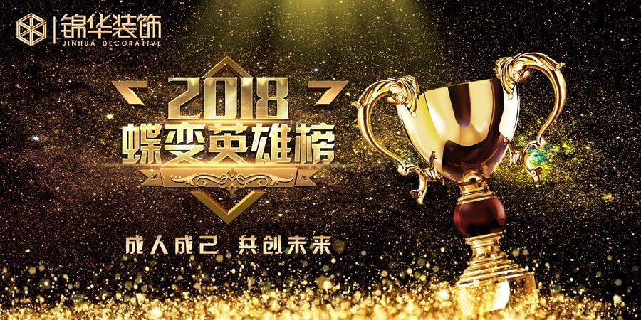 【稳固 增长 奔跑2018!】锦华装饰集团外拓管理中心2018年8月蝶变英雄榜