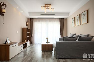 日式简约风格-朗诗太湖绿郡-三室两厅-87平-装修实景效果图