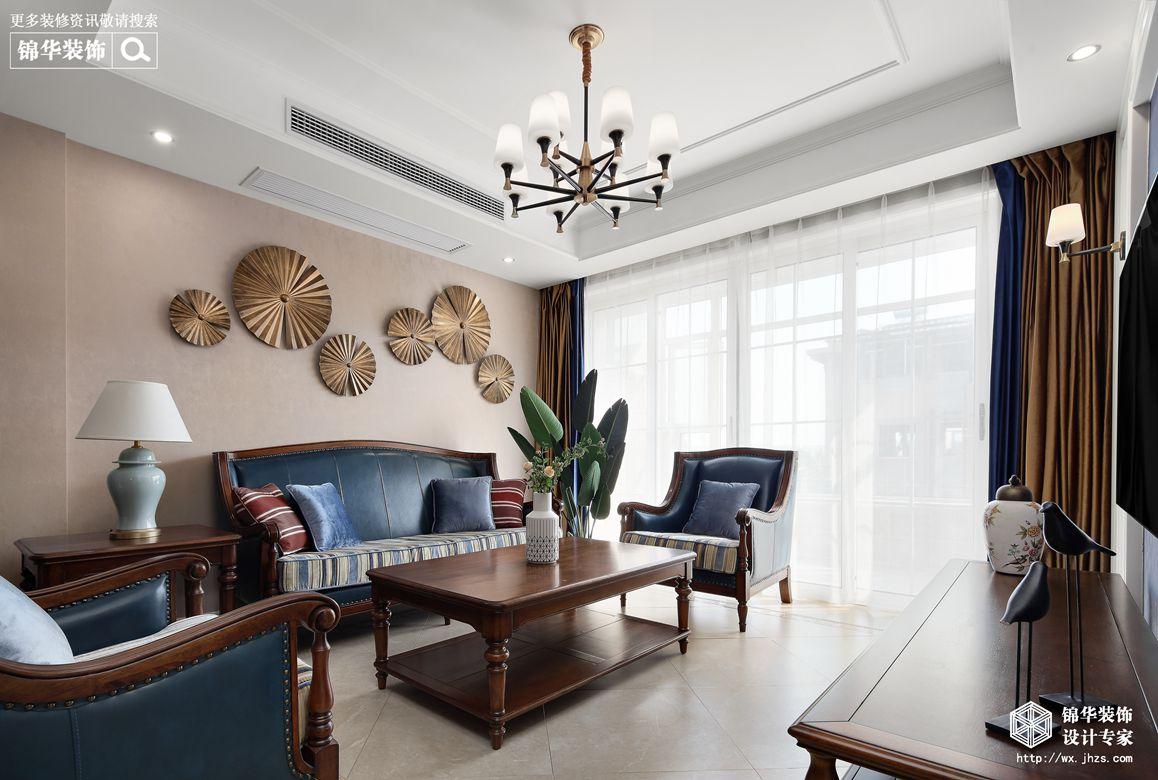 美式风格-四室两厅-98平-装修实景效果图