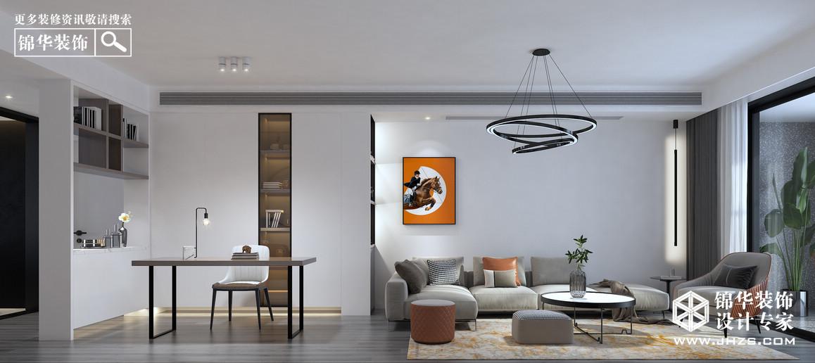 万达中央华城装修-三室一厅-现代简约