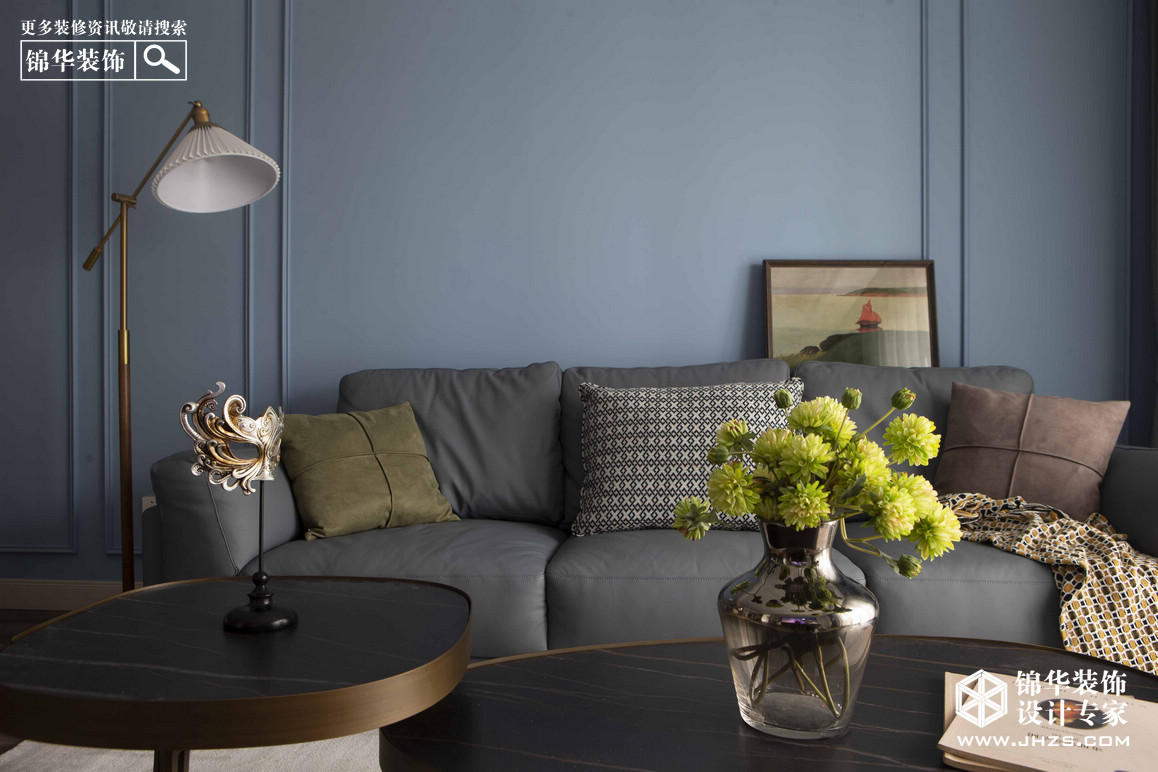 美式混搭-林语春风-两室两厅-97㎡装修-两室两厅-简美