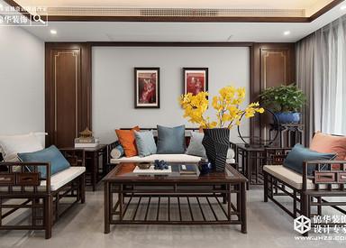 新中式-伟星蓝山-三室两厅-140㎡