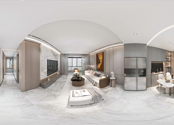 现代简约-万达中央华城-三室一厅-133㎡