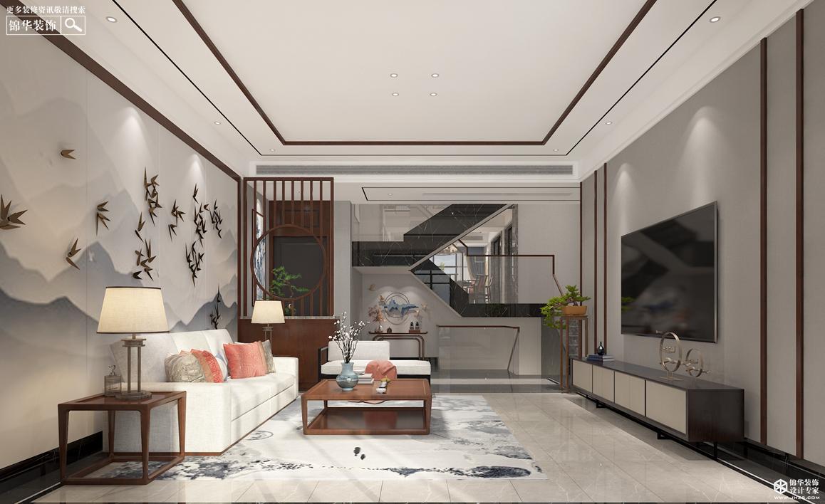 新中式-东湖碧水湾-别墅-180㎡装修-别墅-新中式