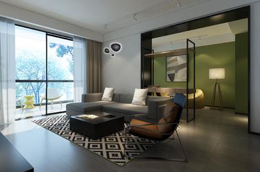 现代简约-万达中央华城-三室一厅-140㎡