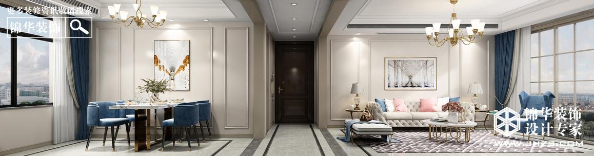 美式-和泰国际广场-三室一厅-130㎡装修-三室一厅-简美