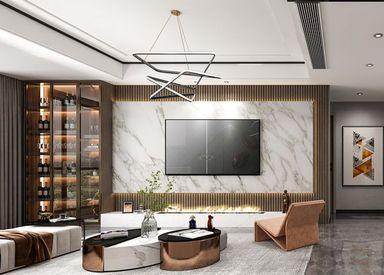 万达中央城-现代简约-102㎡-三室两厅
