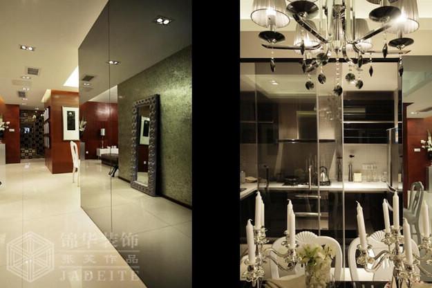 汇锦国际-优雅华贵装修-三室两厅-混搭