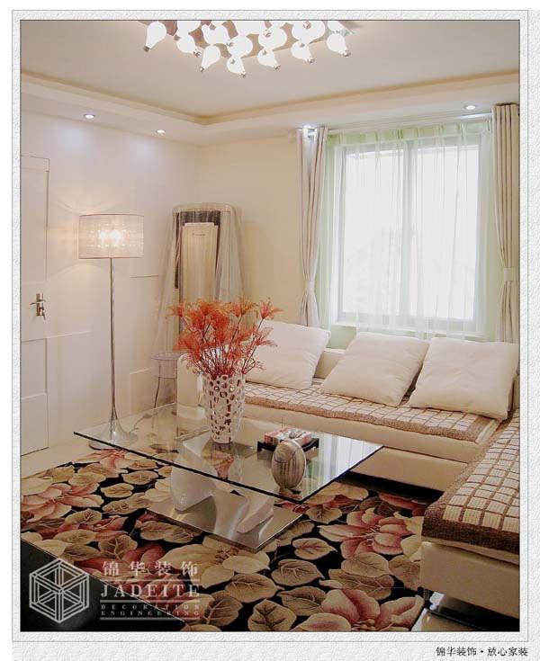 富丽山庄 温馨婚房装修 三室两厅装修效果图 现代简约风格