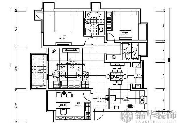 领域花园装修-三室两厅-新中式