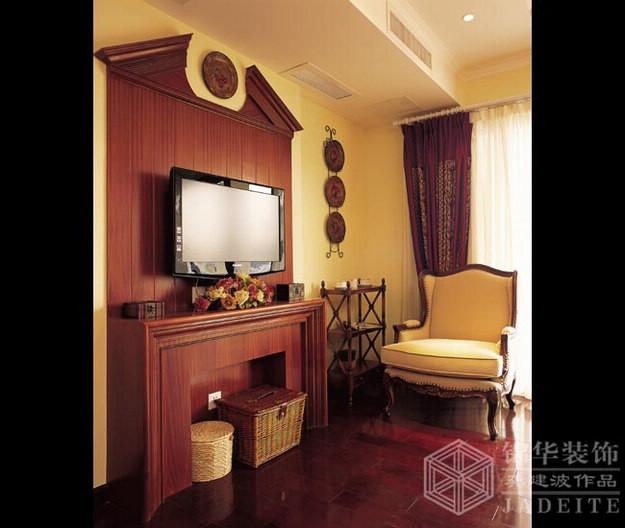 瑞景文华--木色风情装修-别墅-欧式古典