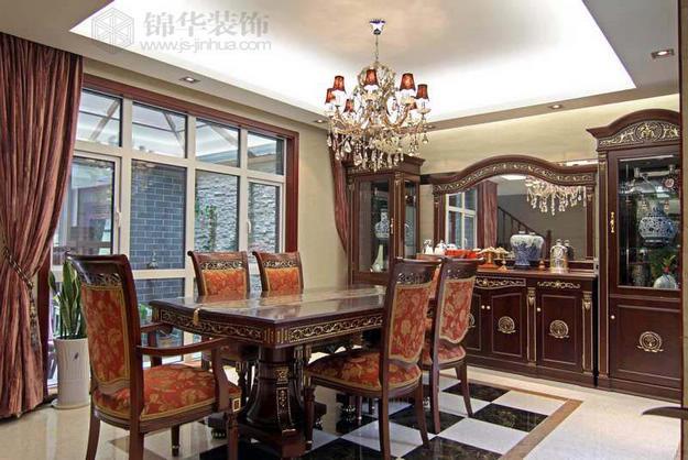 秦淮绿洲--欧式+中式装修-别墅图片大全-混搭风格