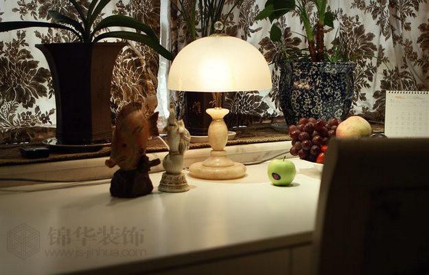 国展中央花园--兰音芷韵装修-三室两厅-混搭