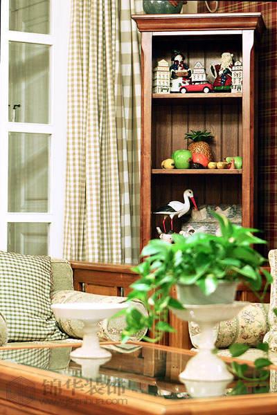 春色满园-云锦路6号装修-三室两厅-美式田园