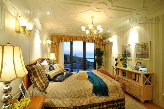 香山美墅装修 三室两厅装修效果图 美式乡村 田园 风格 南