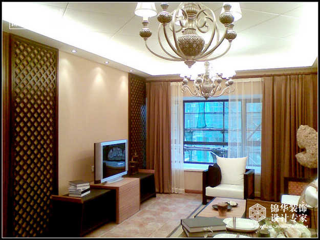 阅城国际装修-两室两厅-美式乡村-南京锦华装饰设计