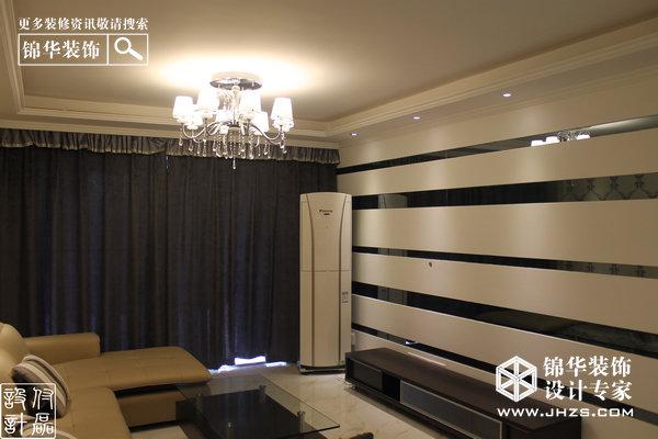 黑白琴键-明发城市广场装修-两室两厅-现代简约
