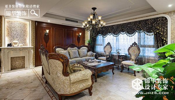 华丽飨宴-天水滨江装修-三室两厅-欧式古典