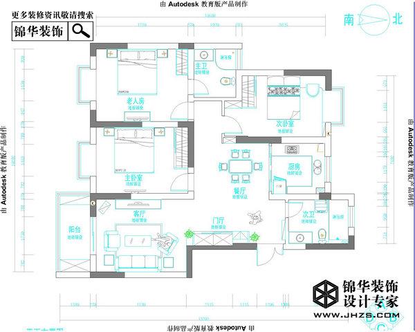 元素主义-福基旭东新城装修-三室两厅-现代简约