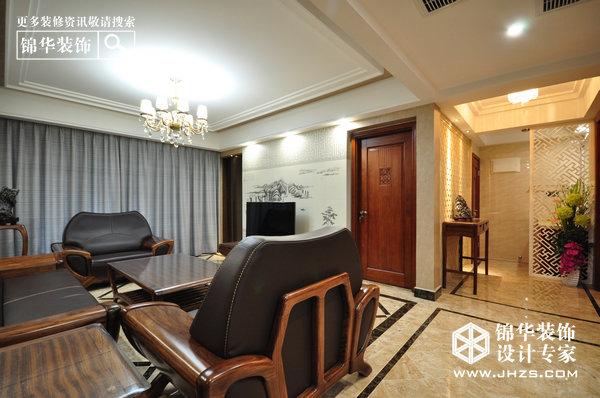保利紫晶山装修-三室两厅-新中式