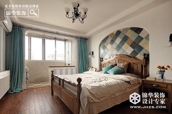 蔚蓝海岸-后宰门李宅装修-两室一厅-地中海