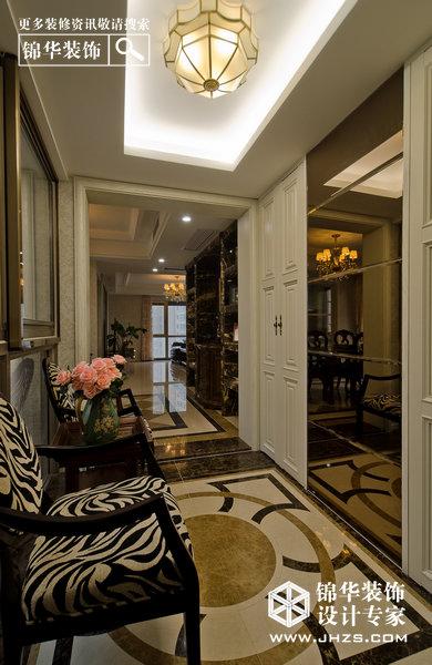 轻巴洛克-星雨华府装修-三室两厅-欧式古典
