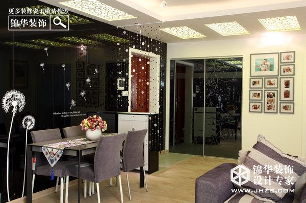 黑白代码-西提国际装修-两室两厅-现代简约