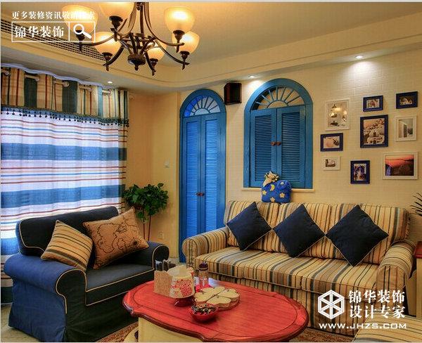 梦幻地中海装修-两室两厅-地中海