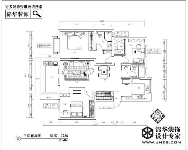 浅遇静藏-仙龙湾装修-三室两厅-现代简约