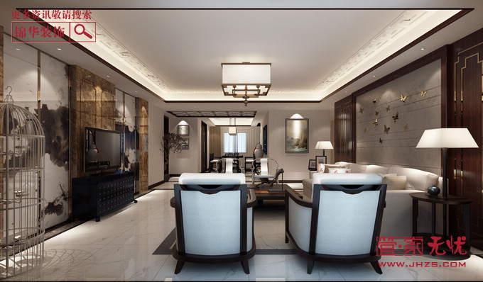 尊享新中2型装修-三室两厅-新中式