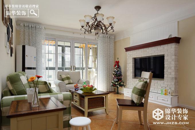 星园牧歌-阿尔卡迪亚装修-三室两厅-美式田园