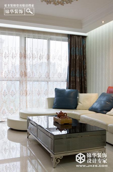 恬静生活-金城丽景装修-三室两厅-简欧