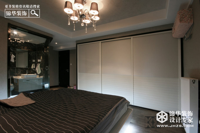 黑白森林-明发滨江新城装修-三室两厅-现代简约
