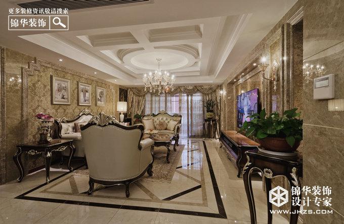 保利紫晶山装修-三室两厅-欧式古典