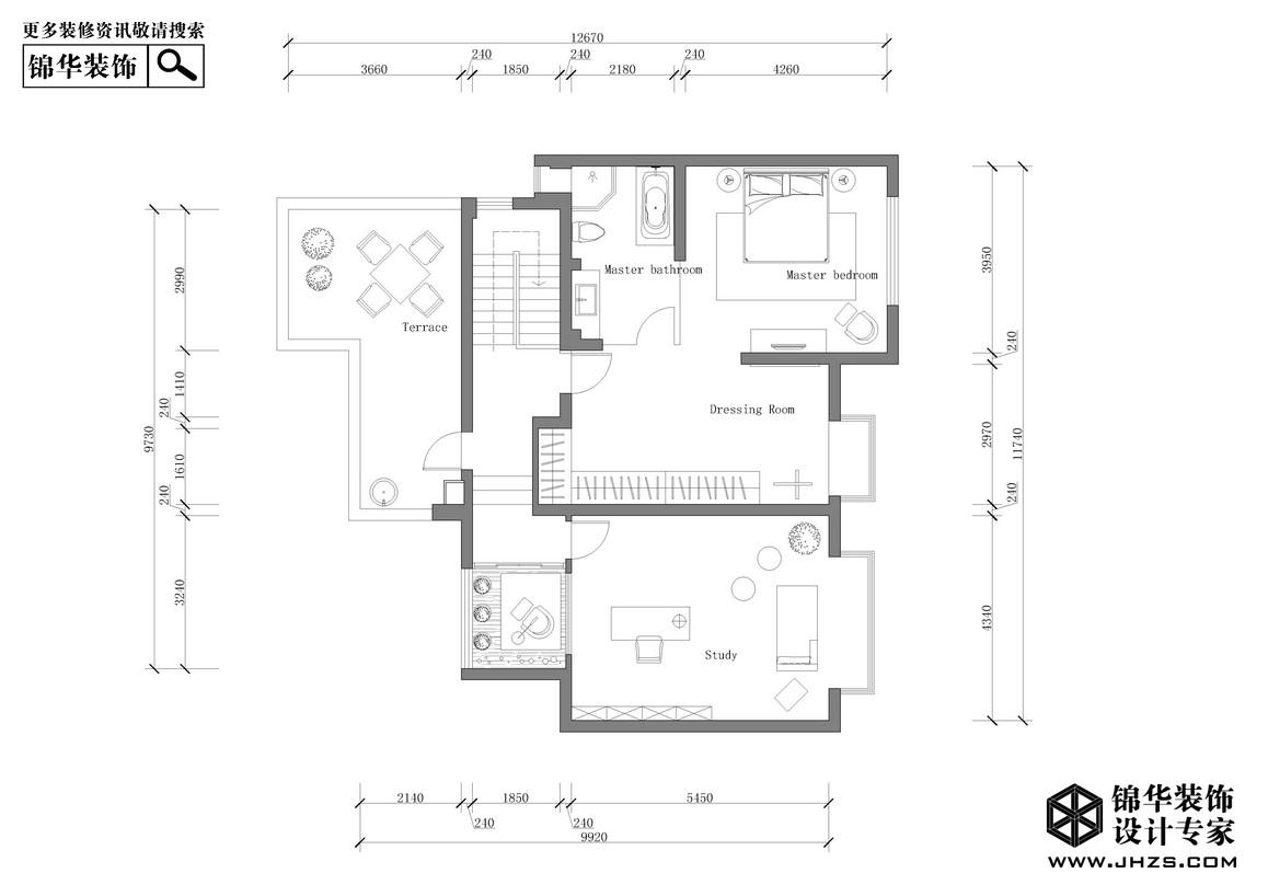《颐》-金地自在城装修-三室两厅-现代简约