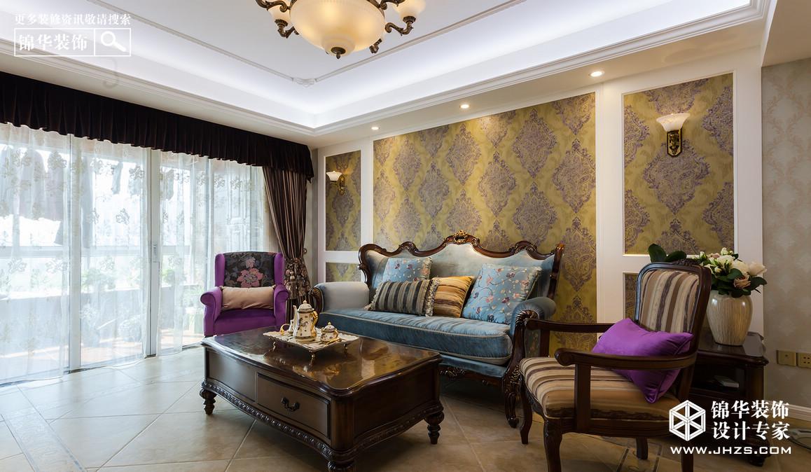 香溢紫晶-保利紫晶山装修-三室两厅-简欧