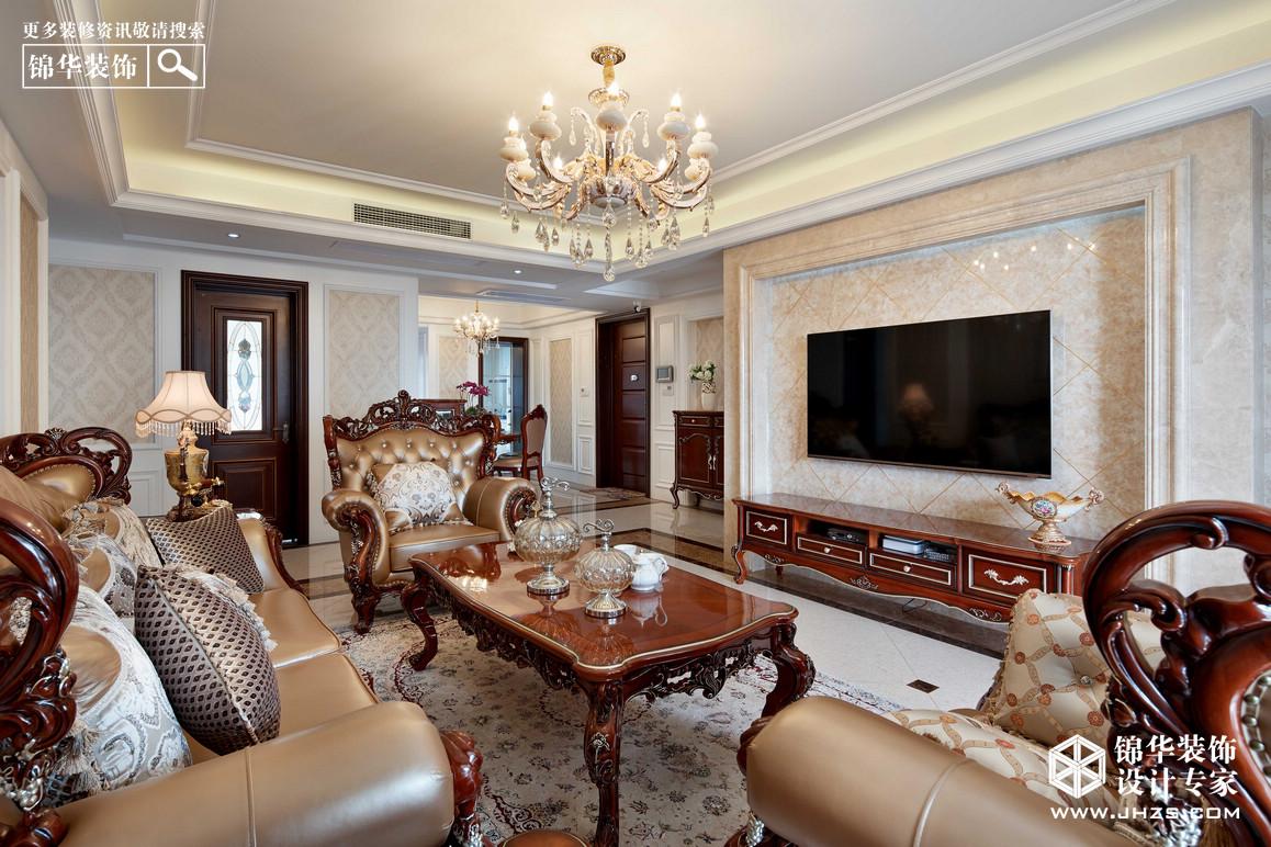苏宁睿城装修-三室两厅-简欧-南京锦华装饰设计公司