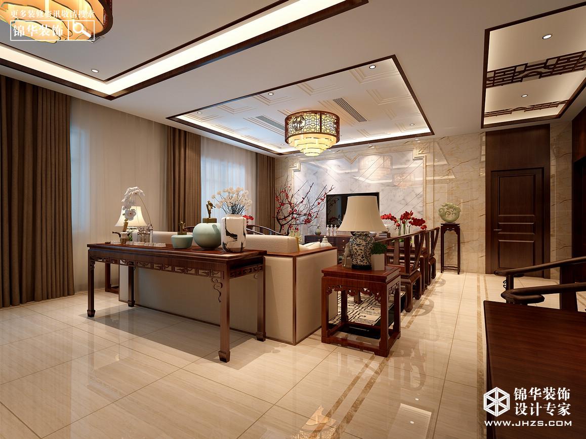 桠溪自建别墅装修-三室两厅-新中式-南京锦华装饰