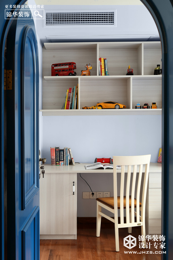 蓝.半岛-邮政世纪花园装修-两室两厅-地中海