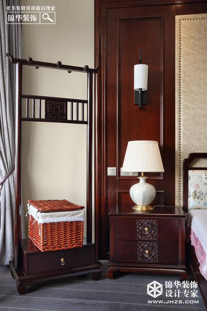 岁月留香-苏宁滨江一号装修-三室两厅-新中式