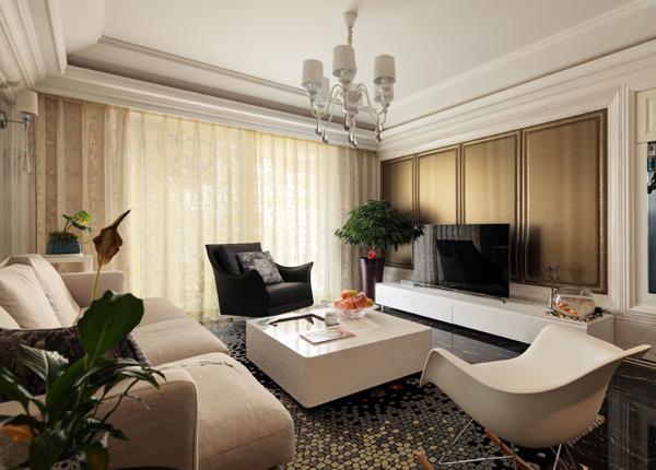 现代简约-大地豪庭-三室两厅-132平米