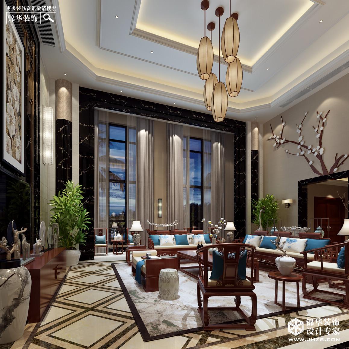 金马郦城装修-跃层复式-新中式